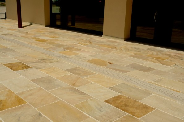 Give the charismatic view to you floor with sandstone tile for Give the floor