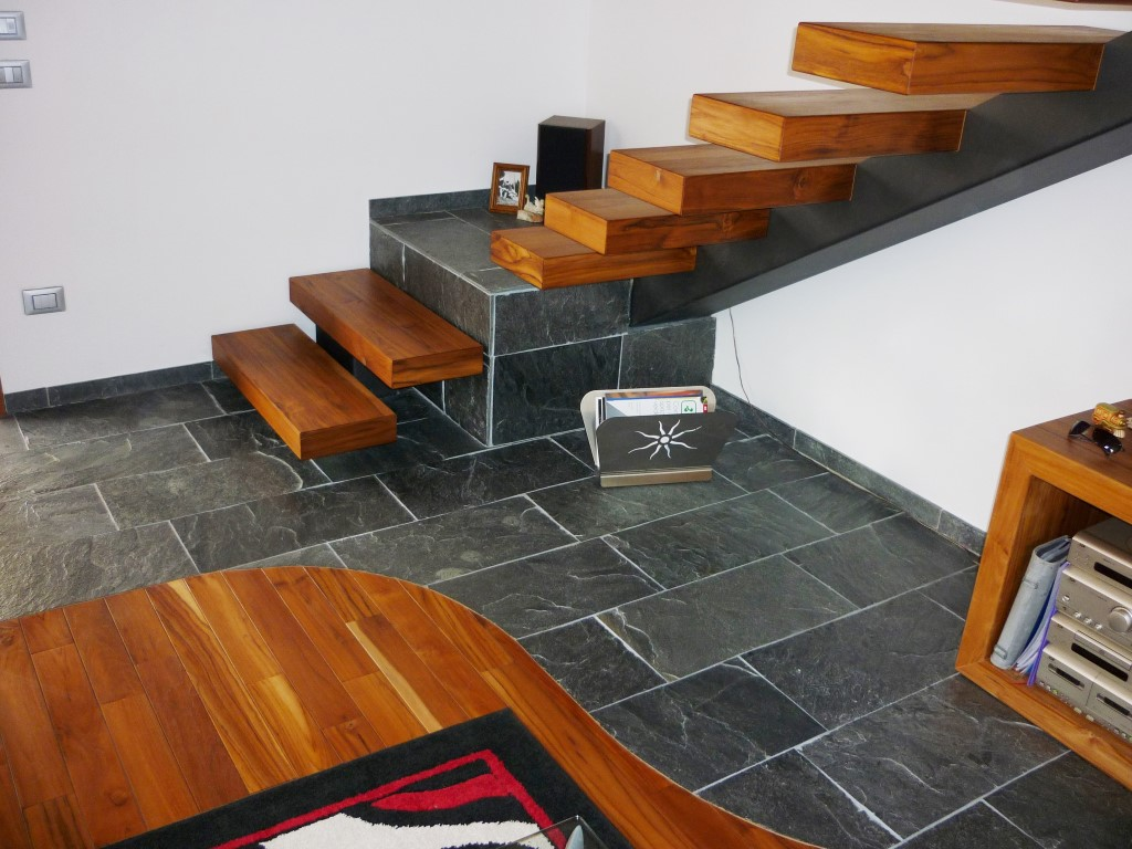 Scour the concealed picture of your house with slate tile