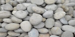 Grey Off White Mix River Pebbles DRY